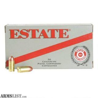 For Sale: ESTATE CARTRIDGE .40 S&W 165 GRAIN FMJ 50 ROUND BOX