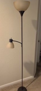 Mainstays Floor and Reading Lamp - brown