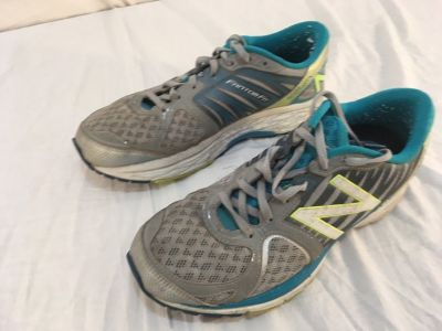 Womens New Balance 1260.5 Gray Blue 9.5 Athletic Lace Up Running Shoes 01635