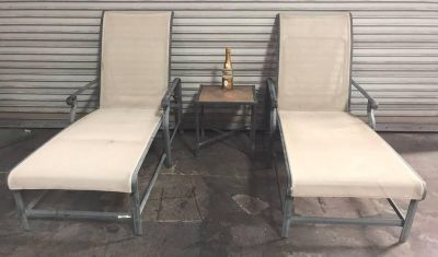 Patio Loungers + Side Table ****priced to sell****