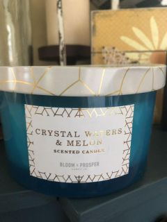 Bloom & Prosper crystal waters & melon candle