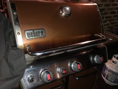 Weber Genesis Grill. Propane. With Tank and Cover