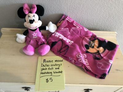 Minnie Mouse plush toy and match blanket