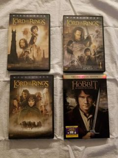 4 DVD, Lord of The Rings, $15.00