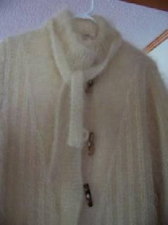 $150 Full Lenght Mohair Coat Cream/Carmel Color