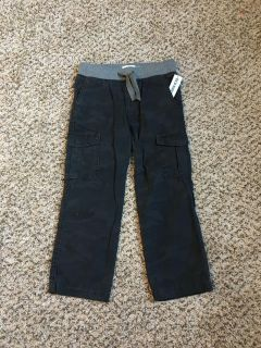 Old Navy Cargo Pants. Adjustable Drawstring Waist. Dark Navy Blue Camo. Size XS (5). Brand New with Tags.