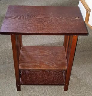 Wood End Table with shelves