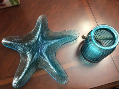 Candle holder and star fish