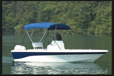 8ft Bimini Canopy Top Center Console Fishing Camping Blue Convertible Removable