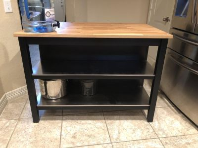 Kitchen Island purchased from ikea excellent condition $350
