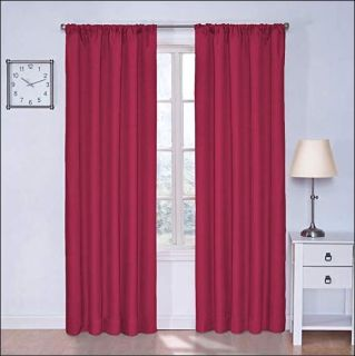 """NEW Eclipse Kids 42"""" x 84"""" Fuchsia Pink Curtains Thermal Panel Decor Drapes"""
