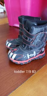 Star wars winter boots toddler 7/8 hardly worn