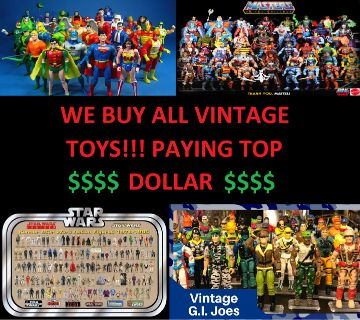 BUYING ALL VINTAGE TOYS!