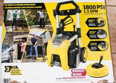 """Karcher 1800 PSI - TruPressure, 1.2 GPM Electric Pressure Washer (Includes 11"""" Surface Cleaner)"""