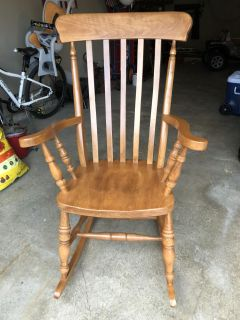 Oversized EUC solid wood rocking chair
