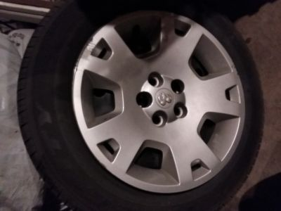 Set of 4 Dodge Charger stock rim tires