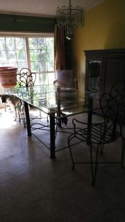 Large glass dining room table