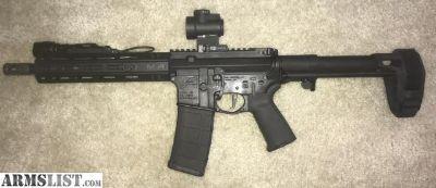 For Sale: Aero Precision AR Pistol 10.5, SBPDW Brace, Trijicon MRO