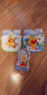 New Winnie the Pooh bibs and pacifier