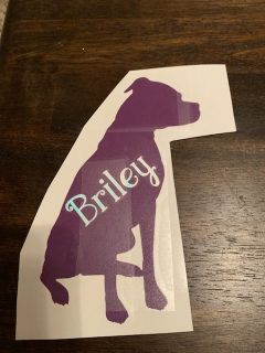 Dog decals CAN CUSTOMIZE