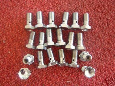 Find 20 STAINLESS BANJO BOLTS BIG DOG HARLEY AIH CUSTOM HARDWARE motorcycle in Lyons, Kansas, US, for US $19.99