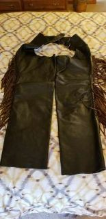 Women s Leather Motorcycle Jacket, with Chaps and Hat