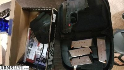For Sale/Trade: M&P Red Crimson trace, Bodyguard 380, 5 one mags, kydex pocket holster LNIB