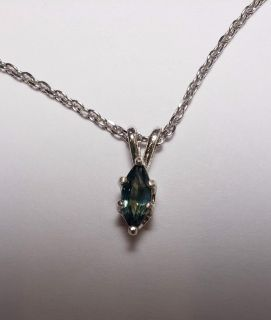 Natural Blue & Green Montana marquise Sapphire necklace, 0.73cts