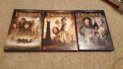 Lord of the rings trilogy DVD bundle, eidescreen
