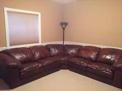 Leather Sealy Sectional Sofa