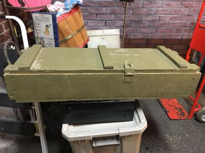 Vintage Green Military Box