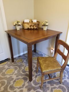 Tall wood table