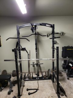 weight rack with pulley system and attachments with or without weight!