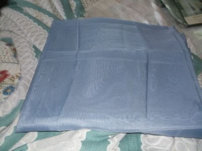 WEDGE WOOD BLUE SHEER CURTAIN PANELS 60 WIDE BY 54 LONG