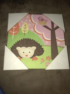 Cute Hedgehog Canvas picture 10X10