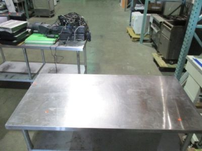 "Stainless Steel 45""x30"" Work Table RTR#6122275-11"