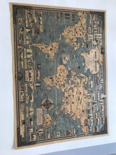 Vintage style map
