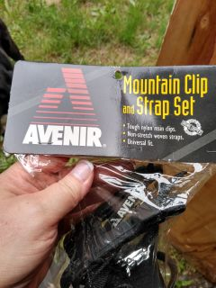 Brand new mountain bike clip and strap set