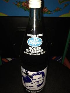 Roger Staubach Dr.Pepper Quart Bottle