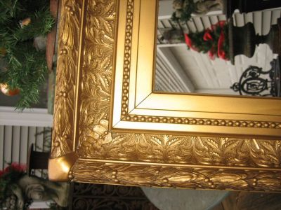 LARGE vintage paris chic gold mirror