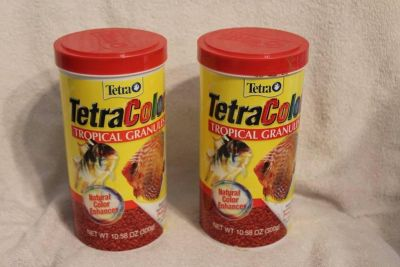 $10 lot of 2 large TetraColor tropical granules, NEW Expired