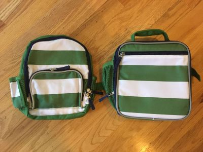 Pottery Barn Kids Fairfax Backpack and Classic Lunchbox New without tags