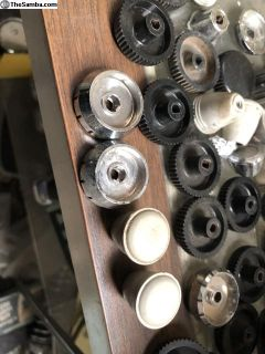 Silver/Gray sapphire radio knobs
