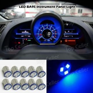 Buy 10pcs BA9S Blue Dash Instrument Panel Cluster Gauges Clock Ash Tray Light Bulbs motorcycle in Milpitas, California, United States