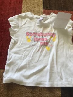 Old Navy some bunny loves me shirt size 4T