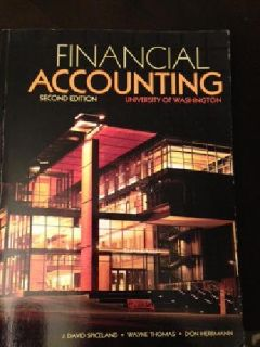 $45 UW Acctg 215/225 - Financial/Managerial Accounting Textbooks