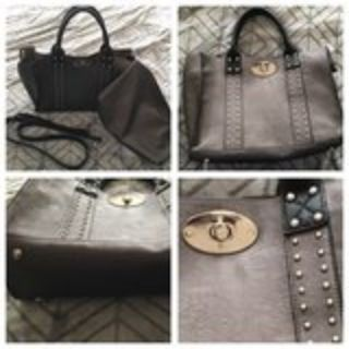 New gray purse with pouch, never used, nice!