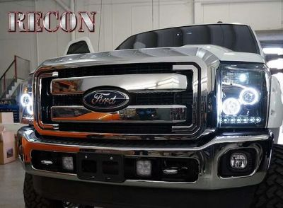 Purchase 2011-2013 Ford F-250 F-350 Super Duty Smoked Projector CCFL Halo DRL Headlights motorcycle in Elkton, Virginia, US, for US $649.95