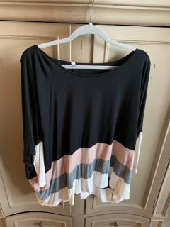 Color block swing top
