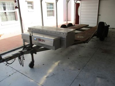 two axle trailer with brakes and toolboxes